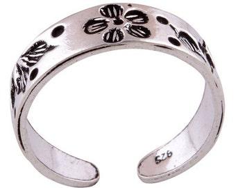 Toe Ring Sliver Adjustable