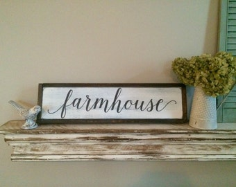 Farmhouse framed wood sign