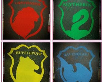 Hogwarts House Crest Canvas