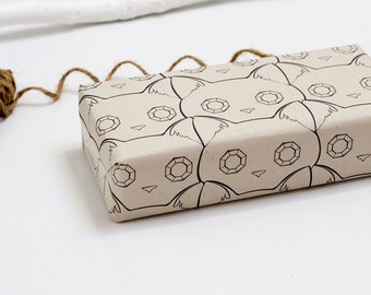 Glamour Cat Wrapping Paper with Gift Tags D01
