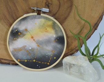 Pegasus Constellation Hand Painted Embroidery