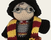 Harry Potter. Amigurumi Pattern PDF, DIY, Crafts, Crochet Pattern, Fantasy Novels, Wizard, Magic, Doll, Geek, Gift, Film, Instant download