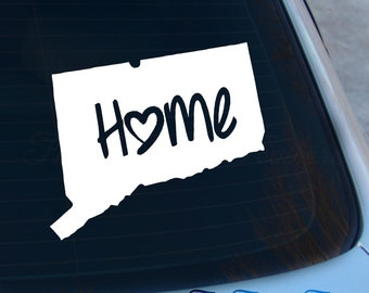 Connecticut Decal - State Decal - Home Decal - CT Sticker - Love - Laptop - Macbook - Car Decal