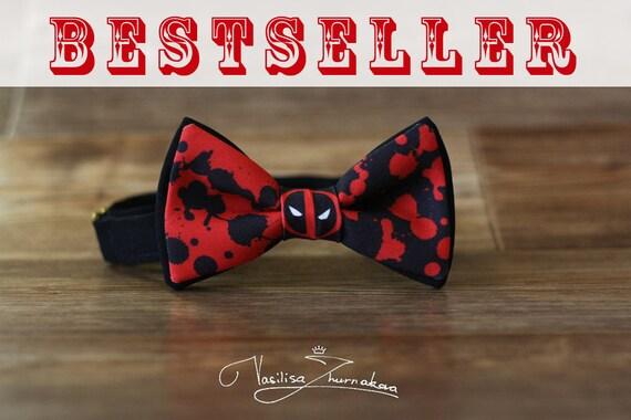 deadpool bow tie bowtie marvel comics deadpool by