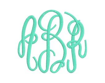 SALE 50% 3 Size Largh Fancy Monogram Embroidery Font Embroidery Fonts, BX fonts Machine Embroidery Designs - 9 File Fomats