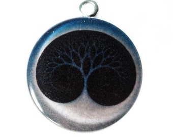 Orgonite Tree of life Resin pendant Resin jewelry Resin necklace Picture pendant Resin art  Art necklace Resin art  Blue necklace Orgonite