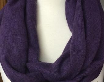 Purple Flannel Infinity Scarf