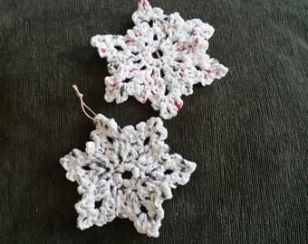 Star ornaments hand crochet..