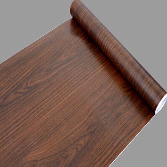 Dark Elm Wood Grain Contact Paper Shelf Liner Self Adhesive