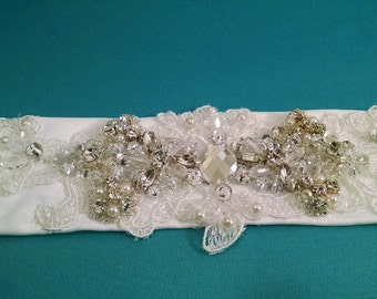 Ivory Lace Belt