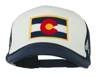 Colorado Flag Embroidered Foam Mesh Cap