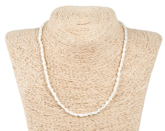 white trocca shell necklace