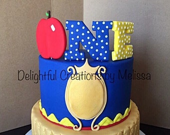 Number ONE fondant cake topper