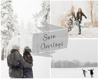 Snow Photoshop Overlays, Christmas, Blowing Snow, Photo Overlays, Winter Overlay, Snow Overlays, Snow Texture, Digital Backdrop
