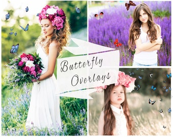 BOGOF, 40 Photoshop Butterfly Overlays,  Photoshop Overlays, Texture, Digital Backdrop, Butterfly Overlay, Butterflies, Instant Download