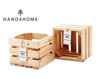 Wooden Crate H A N D 4 H O M E 202 (20x20x15) - Natural Wood