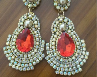 earrings Strass / elegant earrings with Rhinestone litmus