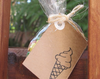 Ice Cream Cone gift tag - Stamped to order