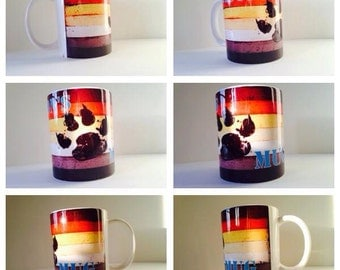 personalised bear gay man flag animal mug cup gift present