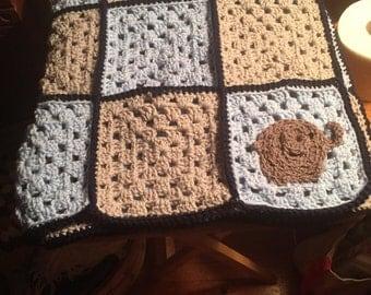 Granny squared baby blanket