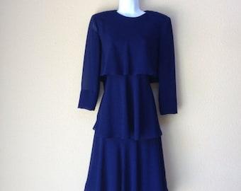 1980s Tiered CATTIVA New York Dress size 6