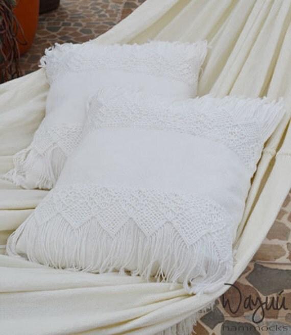 2 Macrame Pillow cover 19''x19'', cushion, Boho style.