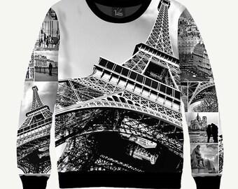 Paris, The Sights Of Paris, Eiffel Tower - Men's Women's Sweatshirt   Sweater - XS, S, M, L, XL, 2XL, 3XL, 4XL, 5XL