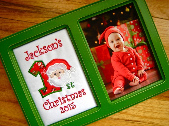 Babys First Christmas Gift Ideas For Grandparents : Personalized first christmas picture frame baby s