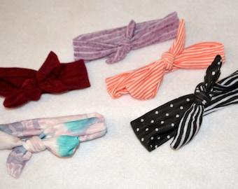 baby tie headband