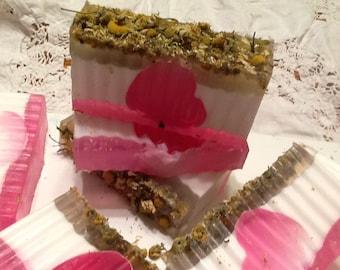 Handmade Chamomile Lavender Glycerin Soaps