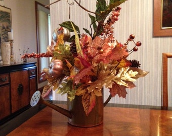 Fall table decor Watering Can