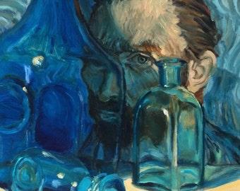 Van Gogh Portrait Original Oil Painting  Wall Art