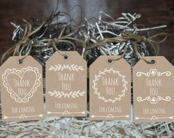Rustic favor tags, Rustic Thank you tags, Burlap tags, printable tags | Baby shower | Bridal shower | Wedding | Birthday tags