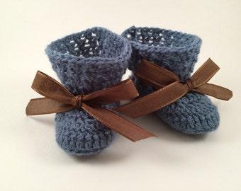Crochet Newborn Booties - Premie Booties