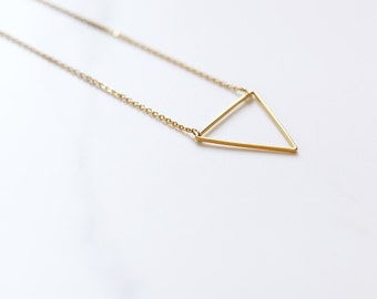 Handmade 'Wisdom' Triangle Charm Necklace