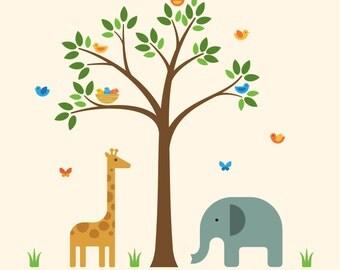 Jungle Nursery Decals, Jungle Nursery, Jungle Playroom Decals - Large