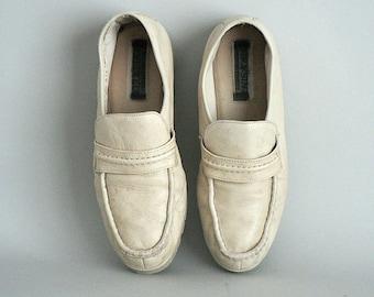 1970s Mens Deerskin Loafers Size 11.5