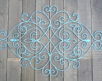 Shabby Chic Wrought Iron Wall Decor,Fleur De Lis,Iron Wall Decor