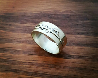 Arabic Ring, Personalized Arabic Ring, Arabic Wedding  Farsi Persian name ring, Any name ring in Farsi, Sterling silver My name in Arabic