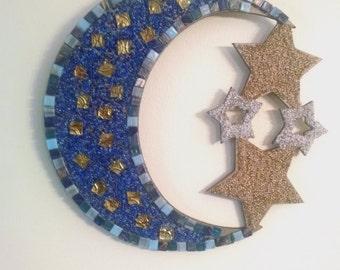 moon and stars mosaic