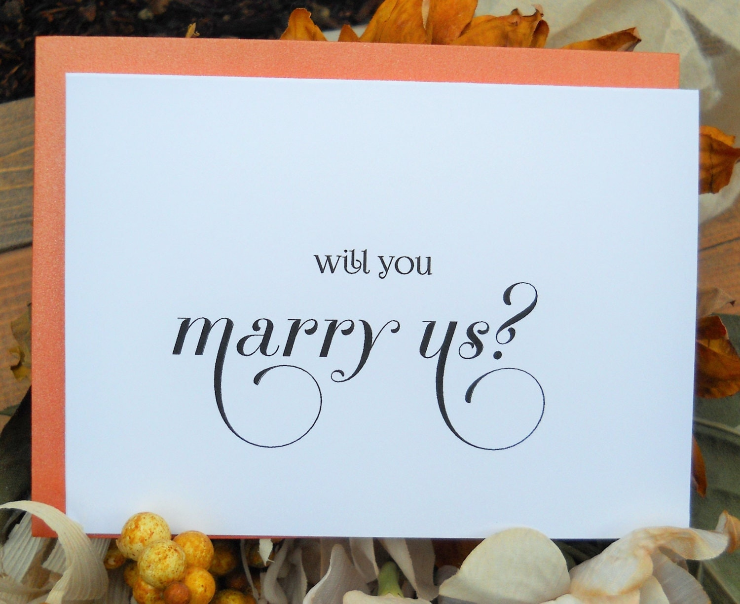 WILL You MARRY US Card Officiant Will Be My