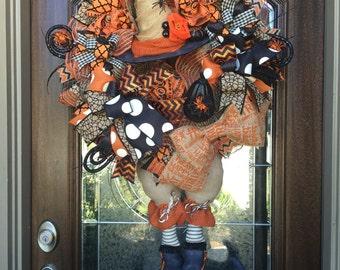 Witch Wreath. Halloween Wreath