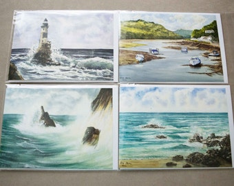 The Seascape Collection - A Set of 4 Blank Greetings Cards