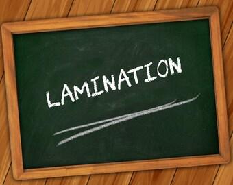 Optional Extra: Laminate