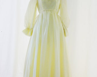 Vintage Emma Domb Yellow Gown