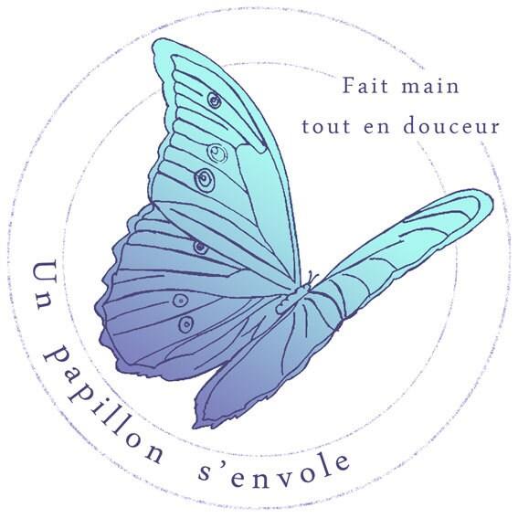 un papillon s 39 envole fait main tout en par unpapillonsenvole. Black Bedroom Furniture Sets. Home Design Ideas