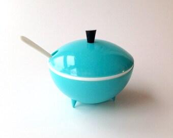 Vintage 1950's Turquoise  jam/ sauce pot