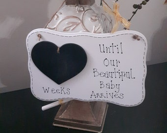 "Wooden plaque ""baby weeks"""