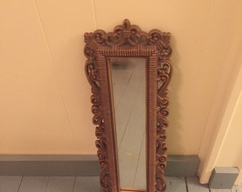 Vintage scroll mirror