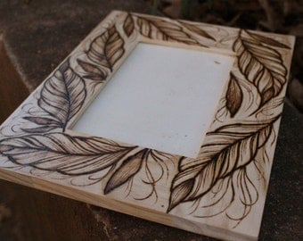 Leaves on Wooden Frame